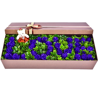 鲜花图片:19朵蓝色妖姬